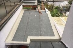 Terrassenüberdachung mit 2 lagiger Bitumenabdichtung